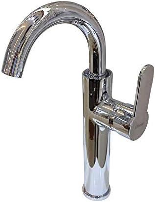 Yadianna 蛇口簡単にはバスルーム、ホットとコールド洗面シングルハンドルの蛇口を使用し毎日、耐久性をインストールします