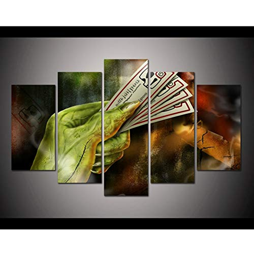HNFSYL Frame Home Decor Room Poster Canvas Wall Art 5 Pieces Tickets of Halloween Horror Nights Pictures Hd Printed Modular Painting]()