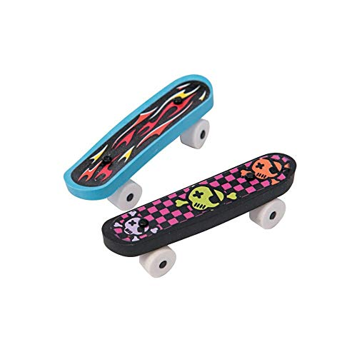 Fun Express - Rubber Skateboard Erasers (Assorted styles) (2 3/8 inches) (1-Pack of 12)