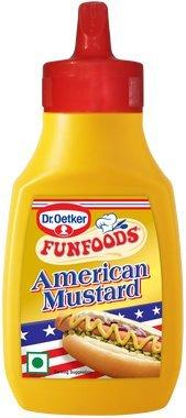 Funfoods American Mustard, 260 gram, Vegetarian