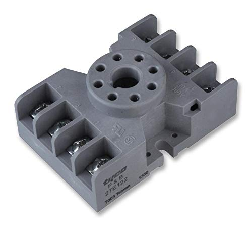 8 Pin Octal Relay Socket - Potter and Brumfield 27E122 Blade and Octal Relay Socket, DPDT, 8 Pin, 39.93 mm L x 60.58 mm D x 23.5 mm H
