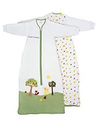 Slumbersafe Toddler Sleeping Bag Long Sleeves 2.5 Tog - Forest Friends, 18-36 months/LARGE