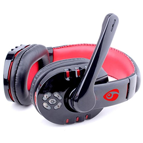 Leewos compatible with Bluetooth 4.0 Wireless Stereo Headset Headhand Headphone Compatible With Bluetooth Enabled Game Consoles, Computers, Cell Phones