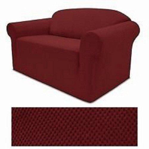 4ウェイストレッチジャージーストレッチSlipcoverセット – ソファーカバー、ラブシートカバーとアームチェアカバーAvailable Sofa + Loveseat + Arm Chair Cover set レッド Sofa + Loveseat + Arm Chair Cover set バーガンディー B071S4K3M6