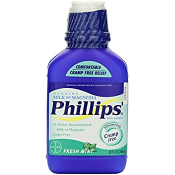 Phillips Fresh Mint Milk of Magnesia Liquid, 2 Count
