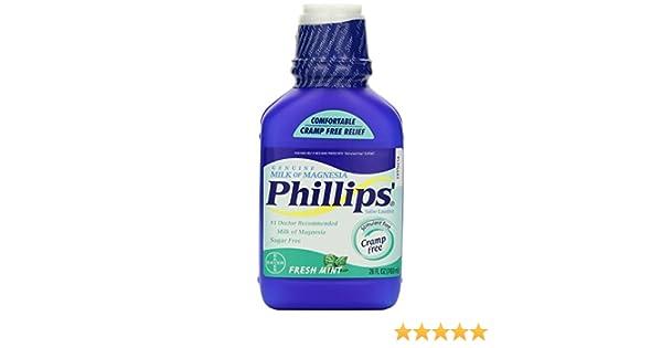 Amazon.com: Phillips Fresh Mint Milk of Magnesia Liquid, 2 Count: Health & Personal Care