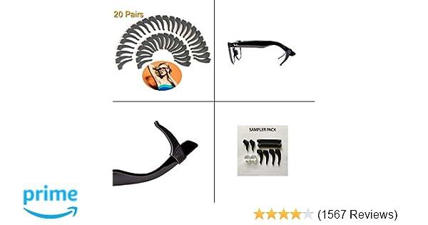 ef67c37cc8b3 20 PAIRS Keepons Superstretch Black Prevent Eyeglass Slipping Anti Slip  Anti Slide Eyewear Sunglasses Spectacles Glasses Temple Tips Sports Ear  Hooks ...