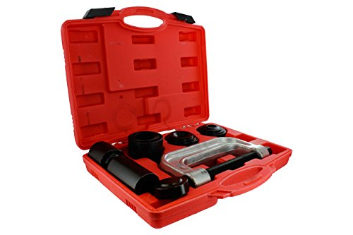 ABN Ball Joint Press 10pc Set - Ball Joint Tool, Bushing Removal Tool - Service Tool Kit with 4-Wheel Drive 4WD Adapter ()