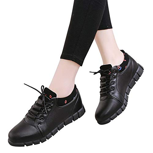 Casual Shoes for Men Mens Tennis Shoes Easy Spirit Shoes for Women,Guess Shoes Women Mens Casual Shoes Hiking Shoes Women Work Shoes for Men❤Black❤7 M US ()