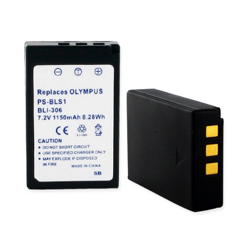 1150mA, 7.2V Replacement Li-Ion Battery for Olympus PS-BLS1 Video Cameras - Empire Scientific #BLI-306 ()