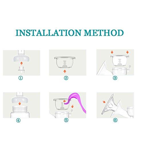Manual Breast Pump Silicone Hand Pump Breastfeeding Food Grade BPA Free Manual Pump with Lid Portable Milk Saver for Breast Feeding by vadalala (Image #3)