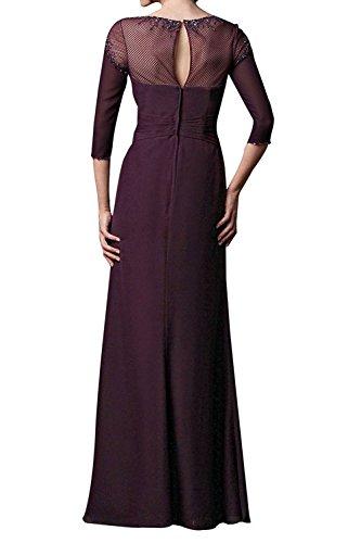 mia Abendkleider Brautmutterkleider Brau Mit Elegant Etuikleider Braun Spitze Festlichkleider La Langarm Partykleider Langarm dCxgqwdaX