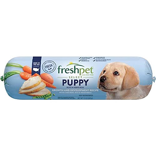 Freshpet Select Tender Chicken With Vegetables & Brown Rice Dog Food Recipe For Puppies, 1.5 Lb (Pack of 8)