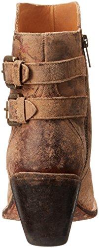 Lucchese Bootmaker Dames Catalina-brown Bloemenprint Shortie Enkellaarsje Bruin