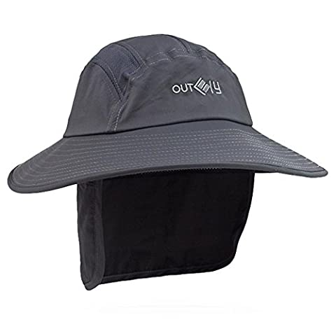CENDA Unisex Extreme Condition Hat Neck Flap Sun Protectiont Headwear Large Bill Hunting Camping Hiking Fishing Cap - UPF - Boonie Hat Terry Hat