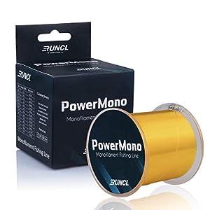 RUNCL PowerMono Fishing Line, Monofilament Fishing Line 300/500/1000Yds – Ultimate Strength,...