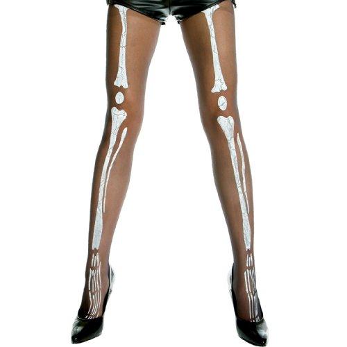 Music Legs 34603 Sheer Skeleton Print Pantyhose - Adult
