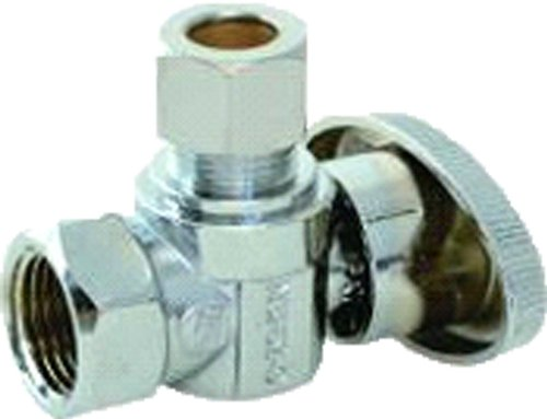 Plumber's Choice 30685 1/2-Inch FIP by 3/8-Inch TPC Ball Valve with Angle Supply - Fip Pvc Valve Ball