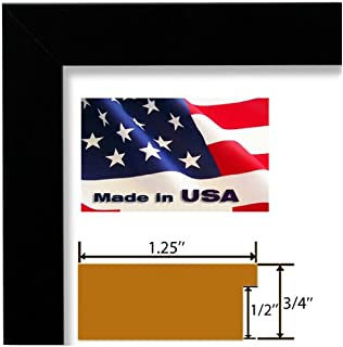 24x32 custom satin black picture poster photo frame wood composite elegant one 125 inch wide moulding