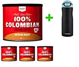 100% Columbian Medium Roast Ground Coffee - 24.2oz - Market Pantry(4 PACK)+ Contigo Autoseal Chill Stainless Steel Hydration Bottle 24oz(Combo Offer)