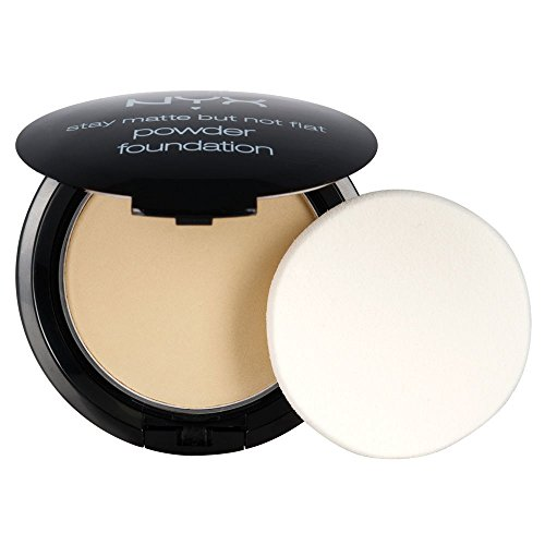 NYX PROFESSIONAL MAKEUP Stay Matte but not Flat Powder Foundation, Nude, 0.26 Ounce ()