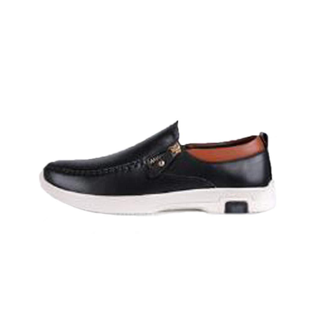 Jiang-ZX Herren Schuhe, Sport- und Freizeitschuhe, Junge Herren Schuhe, Top Layer, Kraftschuhe, Business Schuhe, Schwarz, 43
