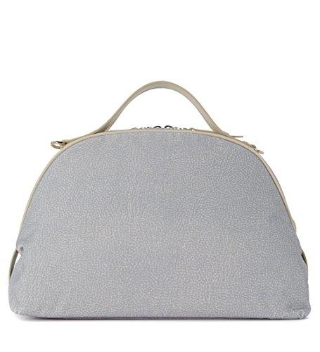Sac Borbonese Sexy Bag medium en jet gris clair