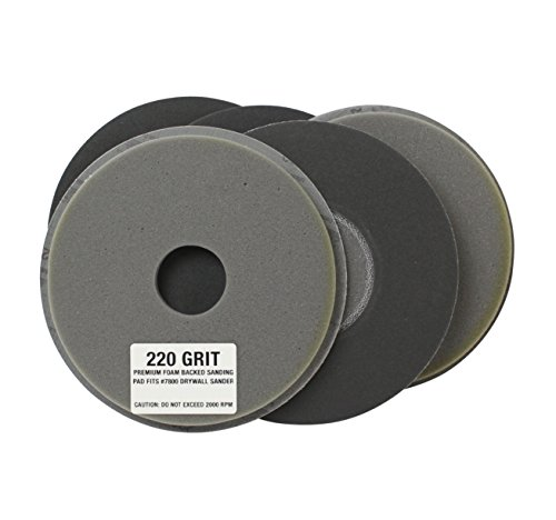Gator Grit Foam Backed Drywall Sanding Pads - 5 Pads - 220 Grit