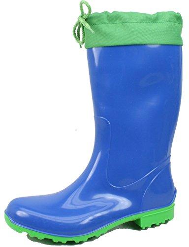 Verde Blu In BOCK Blu Gomma Stivali Donna CROGIOLO Sara 6SZwBq78
