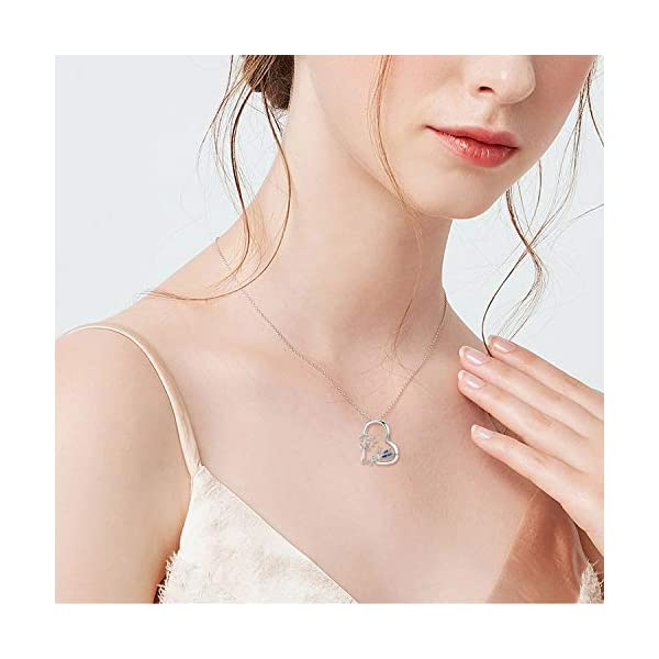 Cuoka Miracle Fairy Necklace Flower Girl Necklace S925 Sterling Silver Heart Pendant Necklace Fairy Jewelry Gift For Women Teen Girlfriend
