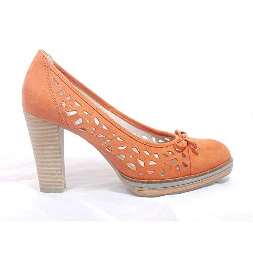 Marco Tozzi - Zapatos de vestir para mujer naranja naranja
