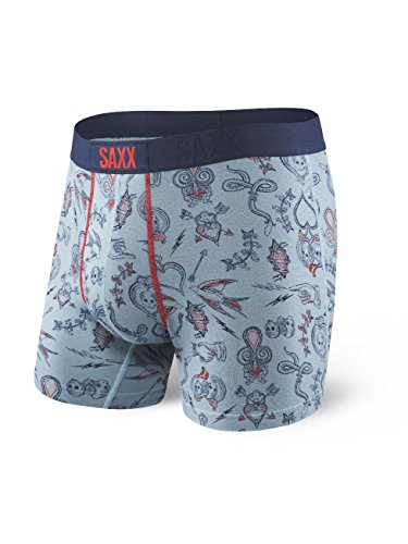 Saxx Mens Vibe Modern Fit Boxers Underwear Large Playing Cards