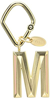 Fossil Women's Keychains Letter M Gold