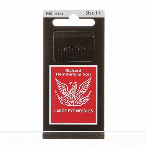 Richard Hemming Milliners Straw Needles Size 11 - Milliners Hand Needles
