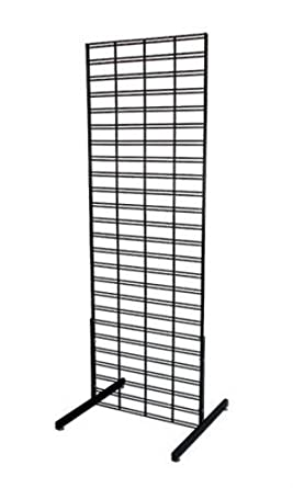 Amazon.com: New Retail Soporte de pie Slat Grid Negro 2 x 6 ...