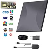 Omni-Directional Outdoor Amplified HD Digital TV Antenna 150 Miles Range with Powerful HDTV Amplifier Signal Booster Support 4K 1080p Channels & All Older TV's for Outdoor, Attic,RV - 32ft Coax Cable