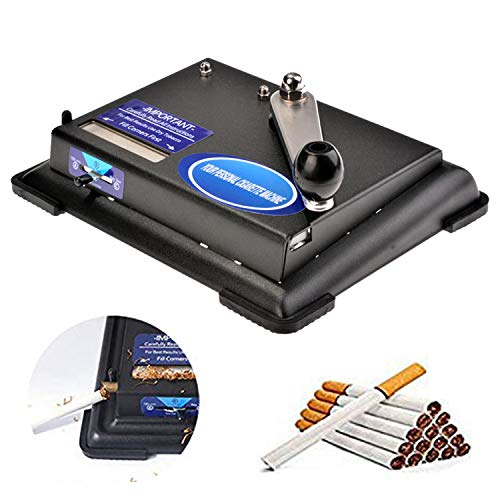 Hurbo Manual Cigarette Rolling Machine Hand Operation Cigarette Making Tobacco Injector Maker Roller Machine (US Stock)