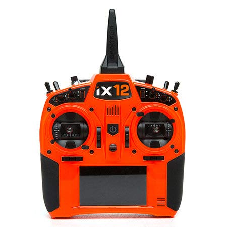 Spektrum iX12 12-Channel 2.4Ghz Telemetry DSMX RC Tx (Transmitter Only) | 250 Model Memory | Touchscreen | WiFi & Bluetooth Compatible | Orange