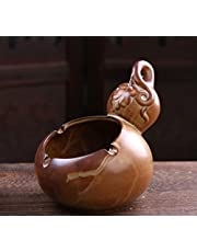 SDKKY Vintage ceniceros de cerámica artesanal regalo publicidad creativa del cilindro de cerámica de gres cenicero,botella calabaza