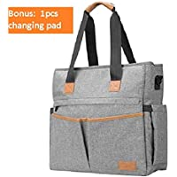 Bable Large Diaper Bags Multi-Function (Gray)