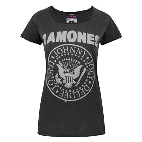 Logo shirt À Charbon Amplified Femme T Ramones qTZwOf