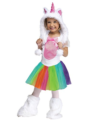 Costumes Child Unicorn (Fun World Costumes Baby Girl's Unicorn Toddler Costume, White, Large)