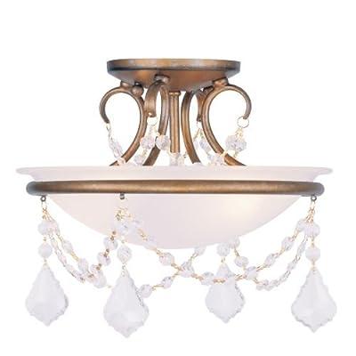 Livex Lighting 6523 Chesterfield / Pennington 2 Light Semi-Flush Ceiling Fixture,