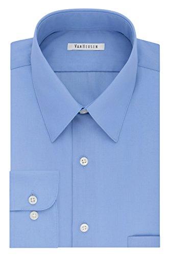 Big Tall Dress Shirts - Van Heusen Men's Tall Dress Shirt Big Fit Poplin, Cameo Blue, 20