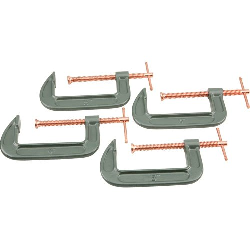Grizzly G8095 5-Inch C-Clamp 4-Piece Set by Grizzly