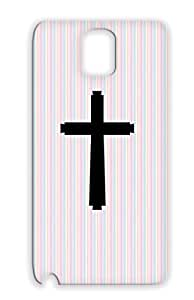 Cross Jesus Religious Catholic Christian Christ Christianity Religion Philosophy God Baptist Black Cross Case For Sumsang Galaxy Note 3
