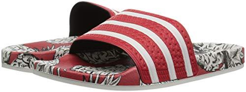 Adulte 280647 White off Mixte scarlet Adilette Scarlet Adidas Sandales Originals xqWwPXFc8E