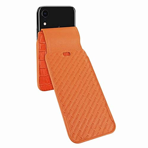 Latest Piel Frama iPhone XR iMagnum Leather Case - Orange Cowskin-Crocodile orange iphone xr case 4