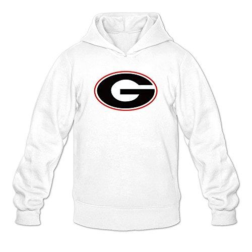 Men Uga Georgia Bulldogs Athletics Logo Hoodie White ()