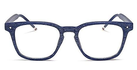 J/&L Glasses Vintage Occhiali da Sole Retr/ò Occhiali Decorativo Unisex con Lenti Trasparenti per Uomo Donna legno modello